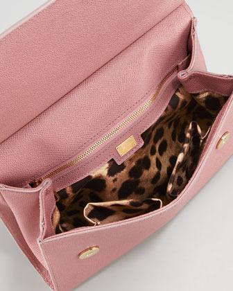 Dolce & Gabbana Miss Sicily Slim Crossbody Flap Bag, Pink