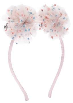 Maison Michel Yosh Polka Dot Tulle Hairband - Womens - Pink