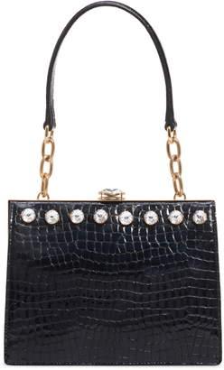 7b889fd278e5 Miu Miu City Lady Croc Embossed Calfskin Leather Shoulder Bag
