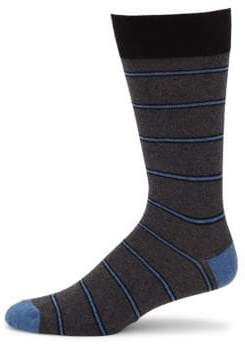 Saks Fifth Avenue COLLECTION Collegiate Striped Crew Socks