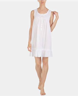 Eileen West Heart-Design Woven Jacquard Cotton Chemise Nightgown E5319960 38af9abd2