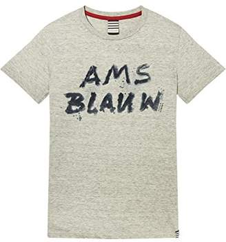 Scotch & Soda Shrunk Boy's AMS Blauw Short Sleeve T-Shirt (Grey Melange 60)