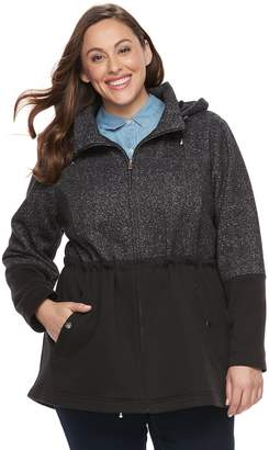 Details Plus Size Fleece Anorak Jacket