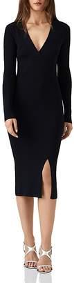 Reiss Amara Ribbed Sweater Dress