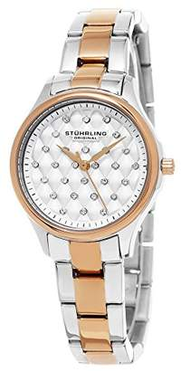 Stuhrling Original Women's Quartz Watch with Silver Dial Analogue Display and Multicolour Stainless Steel Bracelet 783.03