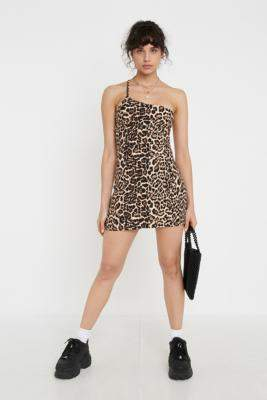 Urban Renewal Vintage Inspired By Vintage Leopard Helena Dress - black S at Urban Outfitters