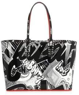 Christian Louboutin Small Cabata Graffiti Patent Leather Tote