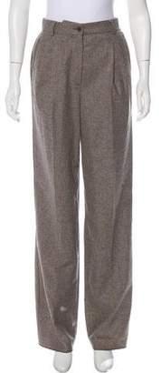 Giorgio Armani Virgin Wool High-Rise Pants
