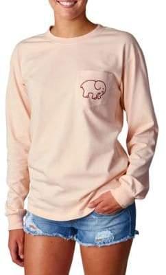Ivory Ella Rose Pigment-Dyed Long-Sleeve T-Shirt
