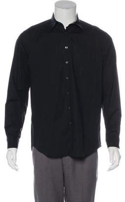 Burberry Equestrian Knight Device Embroidered Shirt black Equestrian Knight Device Embroidered Shirt