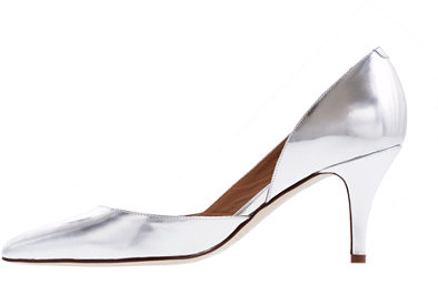 J.Crew Valentina mirror metallic pumps