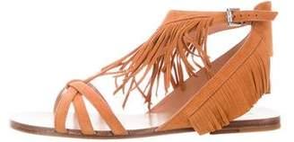 Sigerson Morrison Suede Open-Toe Sandals