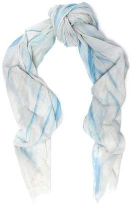 Maje Elvire Printed Cotton-Gauze Scarf