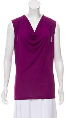 Jean Paul Gaultier Drape-Accented Sleeveless Top