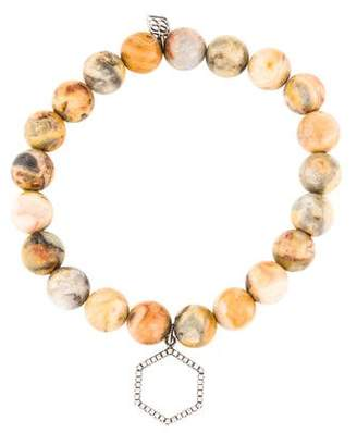 Sydney Evan 14K Diamond & Agate Bead Bracelet