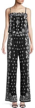 INC International Concepts Bandana Print Sleeveless Jumpsuit