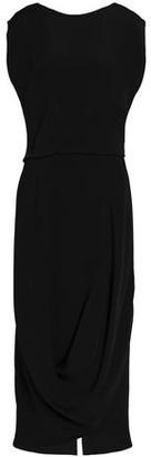 Chalayan Draped Silk-Crepe Midi Dress
