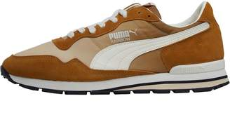 15b46ac2a17581 at MandMDirect.com · Puma Mens Rainbow OG Trainers Golden Brown Pebble Whisper  White