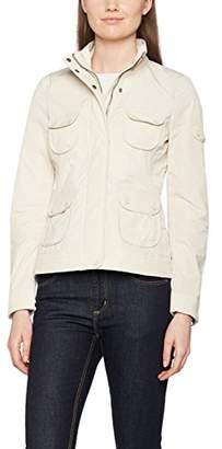 Geox Women's W7221GT2318 Blouson NA Long Sleeve Jacket - Off-White