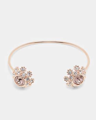 Ted Baker SENIIE Swarovski daisy lace cuff bracelet