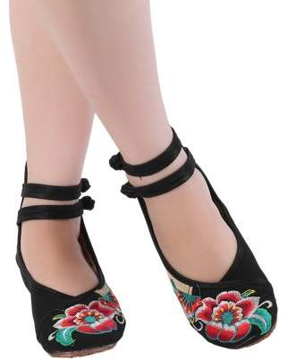 Sunrain Chinese Style Womens Shoe Casual Soft Sole Shoes Comfortable Embroidered Shoes