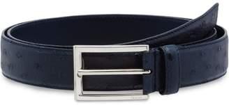 Prada ostrich leather belt