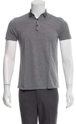 Lanvin Woven Short Sleeve Polo