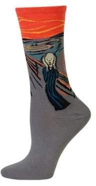 Hot Sox The Scream Trouser Socks
