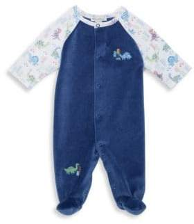 Baby's Velour Downtown Dino Footie