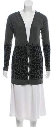 Christopher Kane Animal Pattern Cashmere Cardigan
