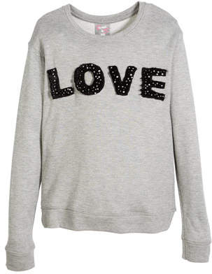 Flowers by Zoe Love Pearly-Trim Sweatshirt, Size S-XL