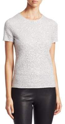 Saks Fifth Avenue COLLECTION Sequin Cashmere Tee