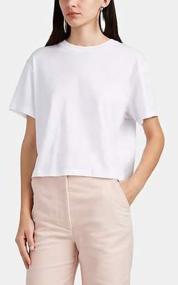 """ATM Anthony Thomas Melillo Women's """"Boy"""" Slub Cotton Crop T-Shirt - White"""