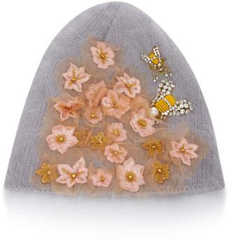 Jennifer Behr Gardenia Embellished Wool And Alpaca-Blend Beanie