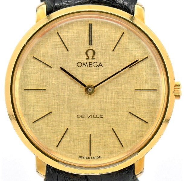 Omega Omega De Ville Cal.620 Gold Plated Hand-Winding 33mm Mens Watch