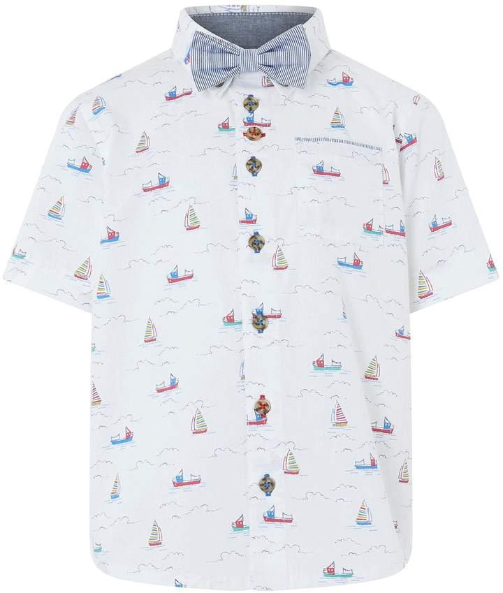 Simon Sail Boat Shirt And Bow Tie