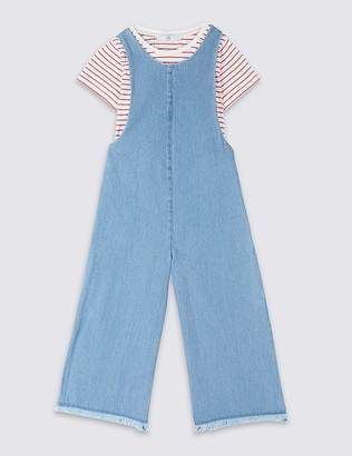 Marks and Spencer 2 Piece Denim Jumpsuit & Top Outfit (3-16 Years)