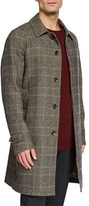 Loro Piana Men's Prince of Wales Plaid Overcoat