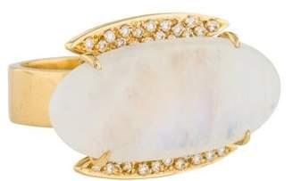 Carla Amorim 18K Moonstone & Diamond Cocktail Ring