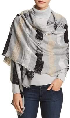 Echo Fuzzy Stripe Wrap
