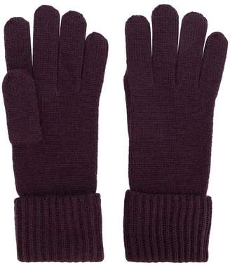 N.Peal ribbed gloves