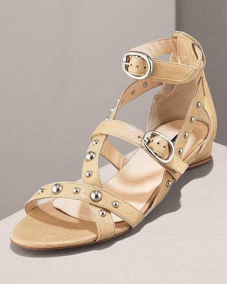 Claudia Ciuti Studded Gladiator Sandal