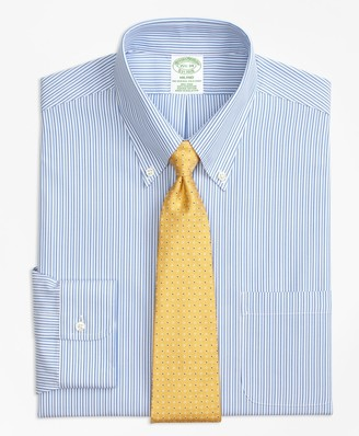 Brooks Brothers Milano Slim-Fit Dress Shirt, Non-Iron Tonal Stripe