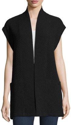 Caroline Rose Cap-Sleeve Knit Tunic Vest $265 thestylecure.com