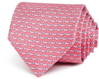 Salvatore Ferragamo Shark Star Repeats Classic Tie $190 thestylecure.com