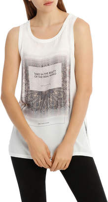 Only Rhina Short Sleeve Mix Print Top