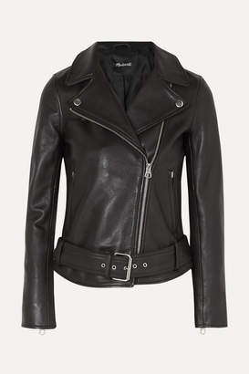Madewell Ultimate Textured-leather Biker Jacket - Black
