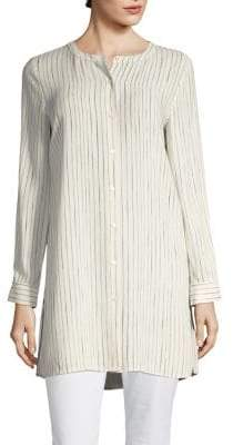 Eileen Fisher Painterly Striped Shirt