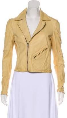 Billy Reid Leather Zip-Up Jacket