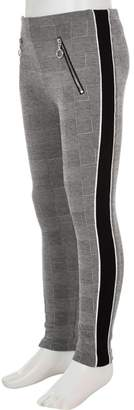 River Island Girls Grey check panel side leggings
